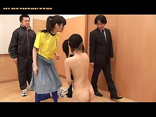 Japanese babe gets her hairy cunt pounded hardcore