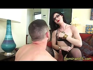 Spex ts fucks guys ass before jerking cumshot