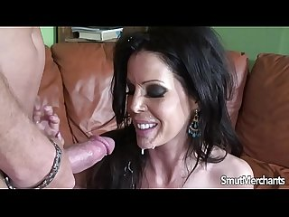 Brunette MILF takes a fucking and cum in her mouth