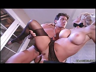 Kelly gets to be rammed deep by her man's rod