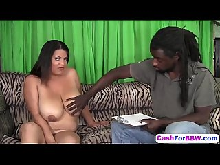 Busty plumper pussy banged for cash by black shaftk workout hd