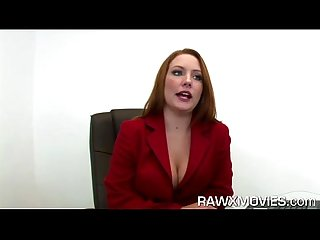 Hot redhead office slut