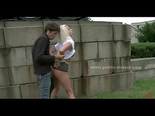 Blonde prostitute with large breasts