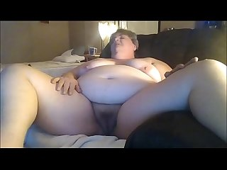 Chunky Granny Masturbating For Her Younger Date