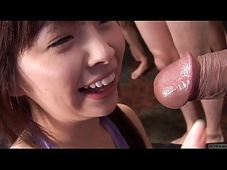 Subtitled japanese Av star monbu ran uncensored blowjob party