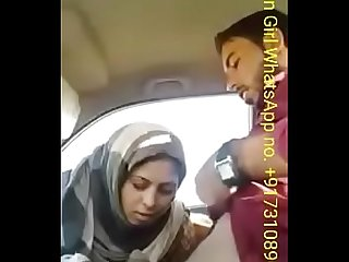 Muslim mom fucked by her real son in his car on road