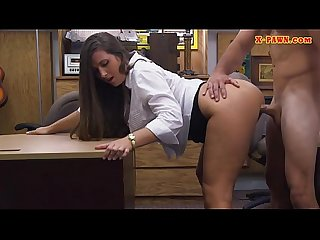 Big butt babe screwed by nasty pawn guy at the pawnshop