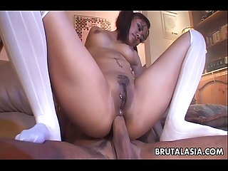 Big ass asian babe has a hot anal fuck