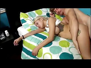 Stepdaughter being fucked while sleeping