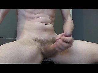 Masturbate and cum on big cock