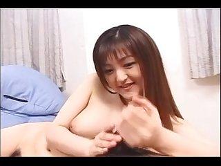 Japanese smiling Handjob