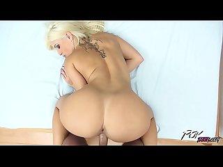 Blonde pornstar blanche bradburry ride strangers big cock creampie