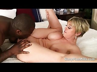 Nasty 60 plus MILF fucked by a horny black dude