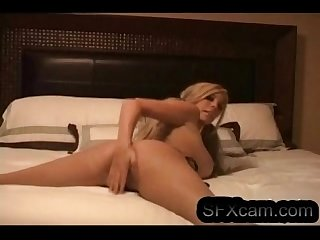 Sexy blonde doing cam show in her bedroom hot pussy and ass sfxcam com