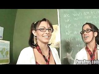 Danni and amia teacher wants to fuck sexy students