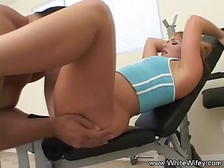 Anal sex in the gym