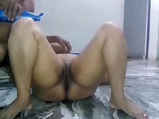 Massaging wife's tummy ass and cunt before hard fuck