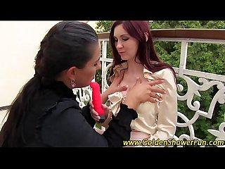Fisting lesbians pissing