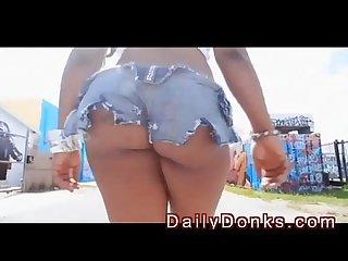 Unbelievably hot stripper walking the streets
