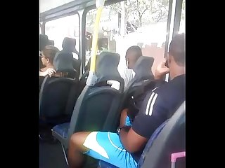 Caught masturbating in The bus