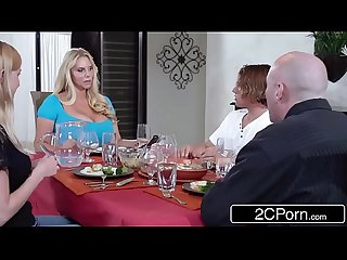 Bored married milf Karen fisher steals her daughter S boyfriend for casual fun
