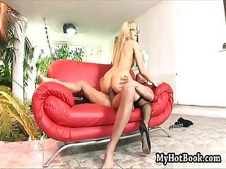 Aleska Diamond looks marvelous sitting on her red