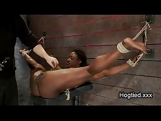 Muscle woman forced squirt