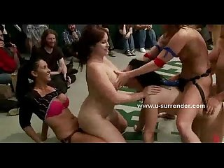 Amazing lesbian wrestling show