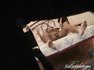Hidden cam video of couple naked on bed brazilian