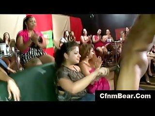 cfnm stripper and babes in cfnm club suckfest