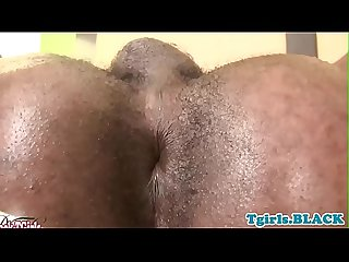 Black smalltitted tgirl Pulling dick solo