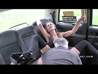 Fake taxi driver bangs sexy outfitted blonde