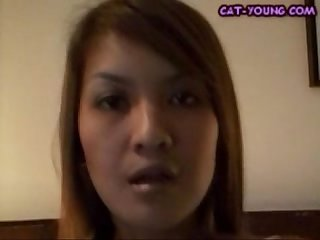 Asian cat young striptease