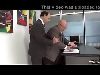 Two grandpa fucking in office