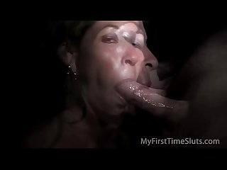 Hotwife kaleesi s first gloryhole