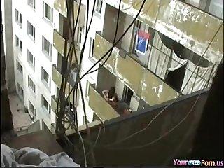 Voyeur tapes the neighbors fucking