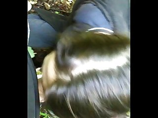 Hot teen girl anal and cum filmed in forest with iphone