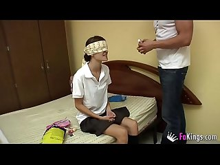 Ainara the naughty schoolgirl is fucked by her bad babysitter