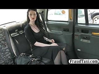 Amateur babe drilled by fake driver for a free cab fare