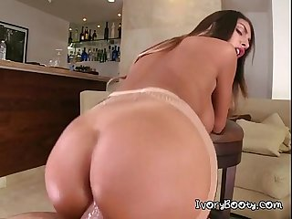 Huge cock in horny august tight pussy and she like it much