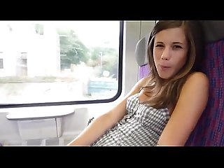 Girl getting fucked on Train in public more at www imlivex com