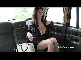 Massive tits milf fucks in taxi