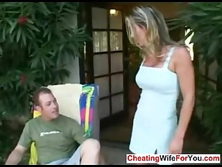 Blonde milf get her ass licked