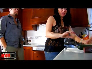 Messy brutal food sex in the kitchen with spanish milf jordan perry