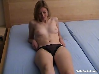 Shy milf makes a sex tape