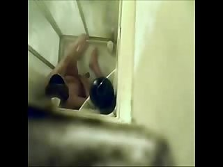 Caught my sister fingering in shower hidden cam