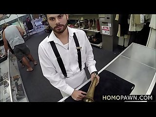 Extremely straight dude goes gay and gets glory holes drilled by huge cock
