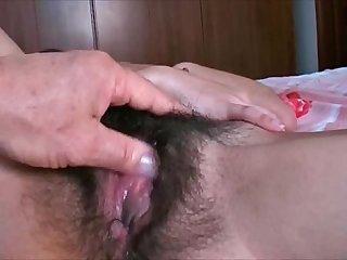 Hairy Pussy Girl Enjoys Masturbating