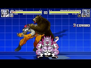 Gundog and Jon Talbain vs MrBear and Weregarurumon Bara Battle