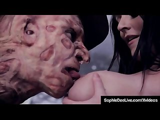 Brunette Brit Sophie Dee Dream Fucked By Freddy Krueger?
